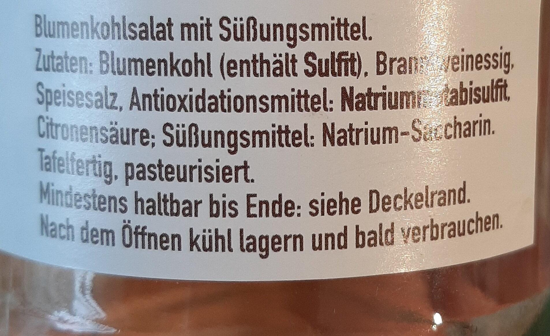 Blumenkohlsalat - Ingrédients - de
