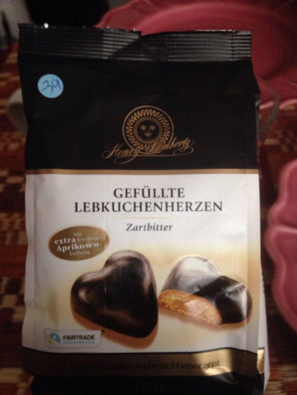 Henry Lambertz Gefüllte Lebkuchenherzen Zartbitter - Produit - fr