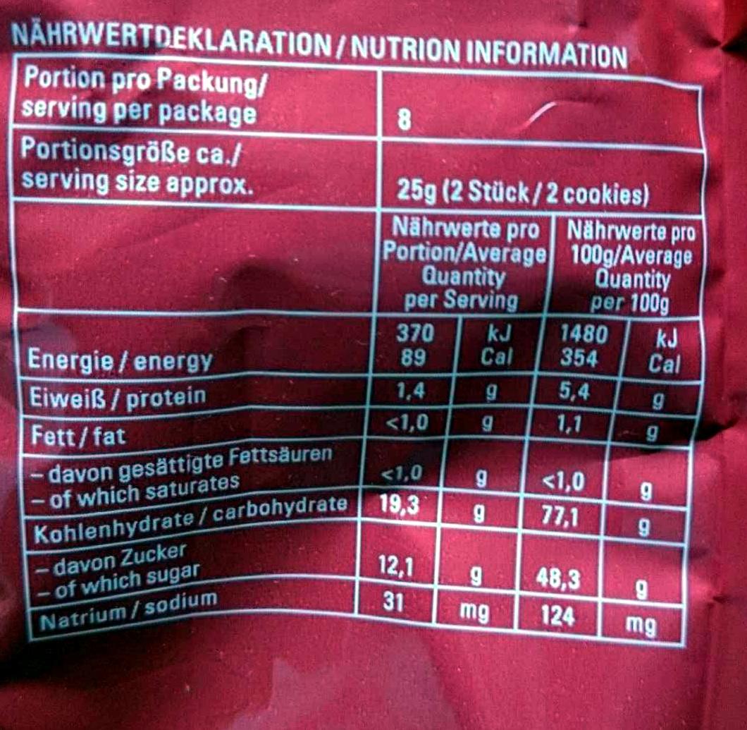 Pffefernusse Original - Voedingswaarden - en