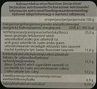 Mozart-Kugeln - Informations nutritionnelles