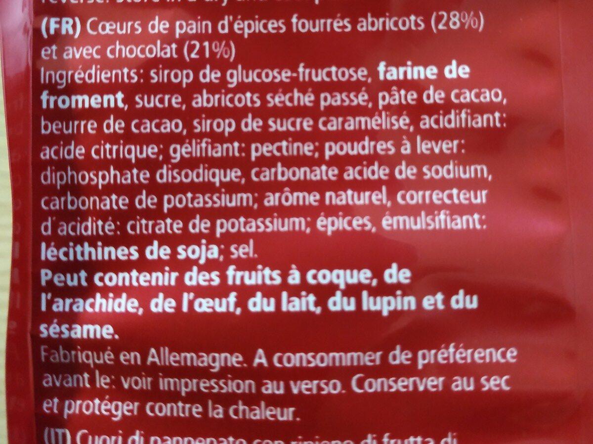 Lebkuchen Herzen - Ingrédients - fr
