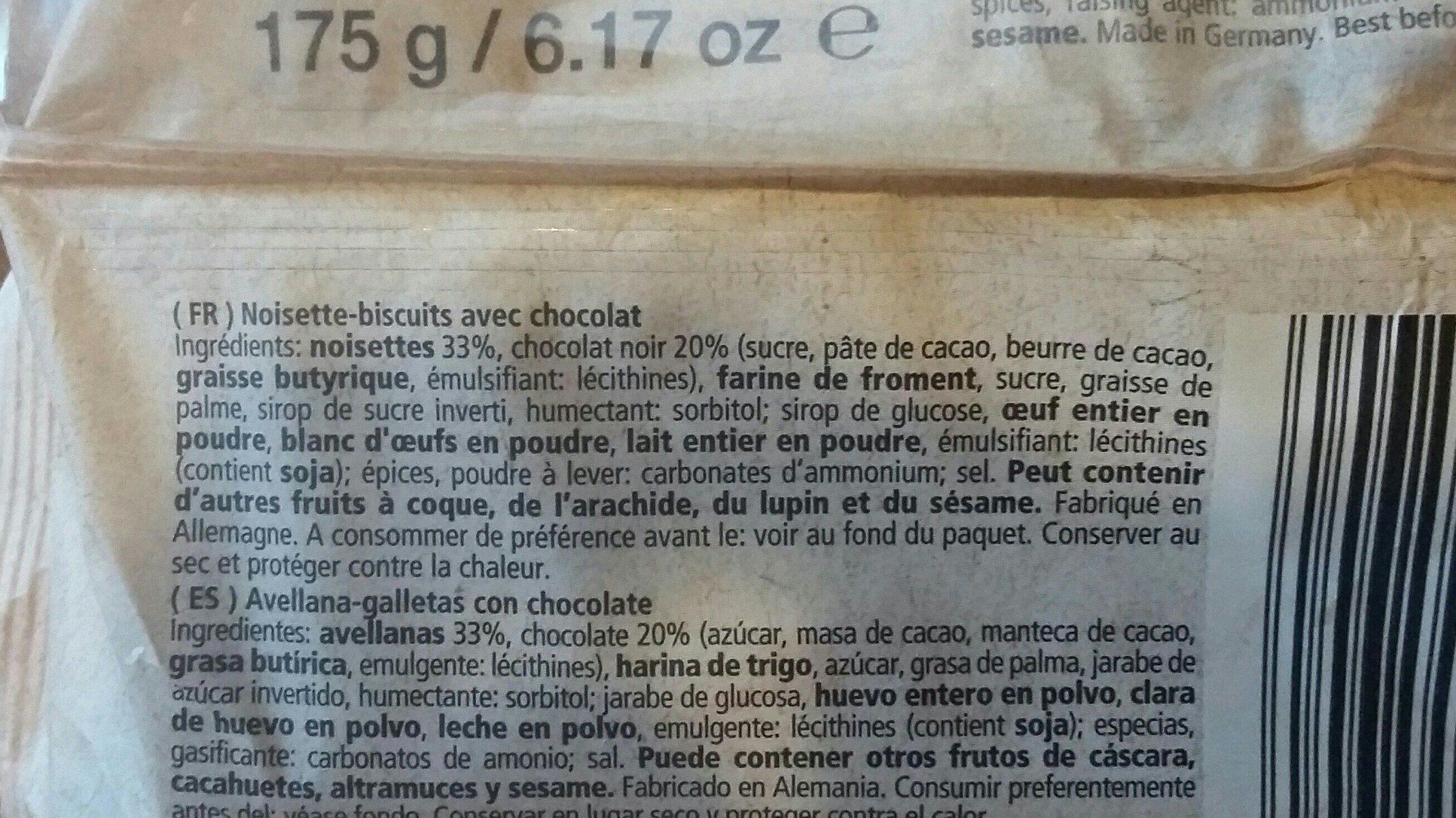 Nussecken - Ingrédients - fr