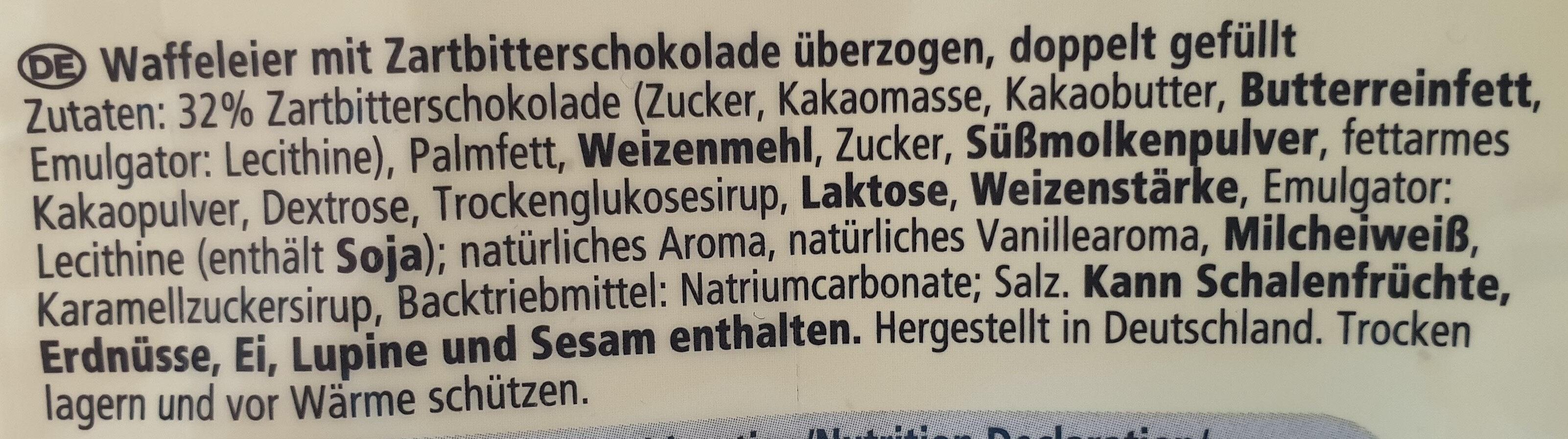 Waffeleier - Ingrédients - de