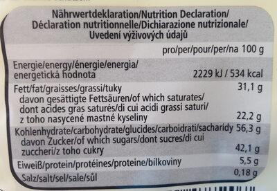 Waffeleier - Informations nutritionnelles - de