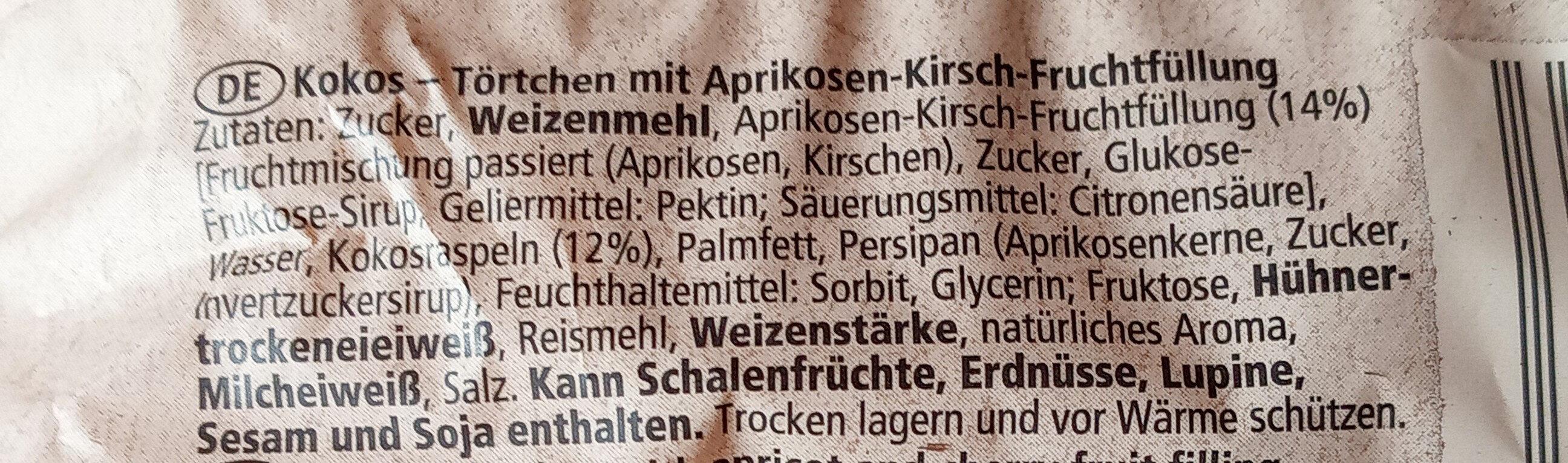 Kokostörtchen - Ingrédients - de