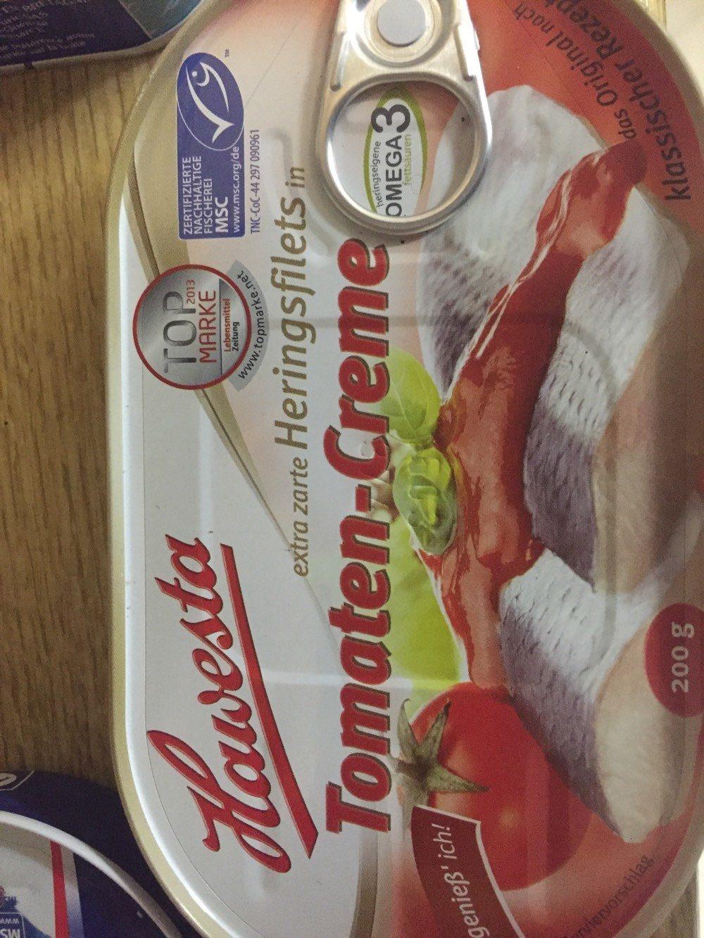Extra zarte Heringsfilets in Tomaten-Creme - Produit - fr