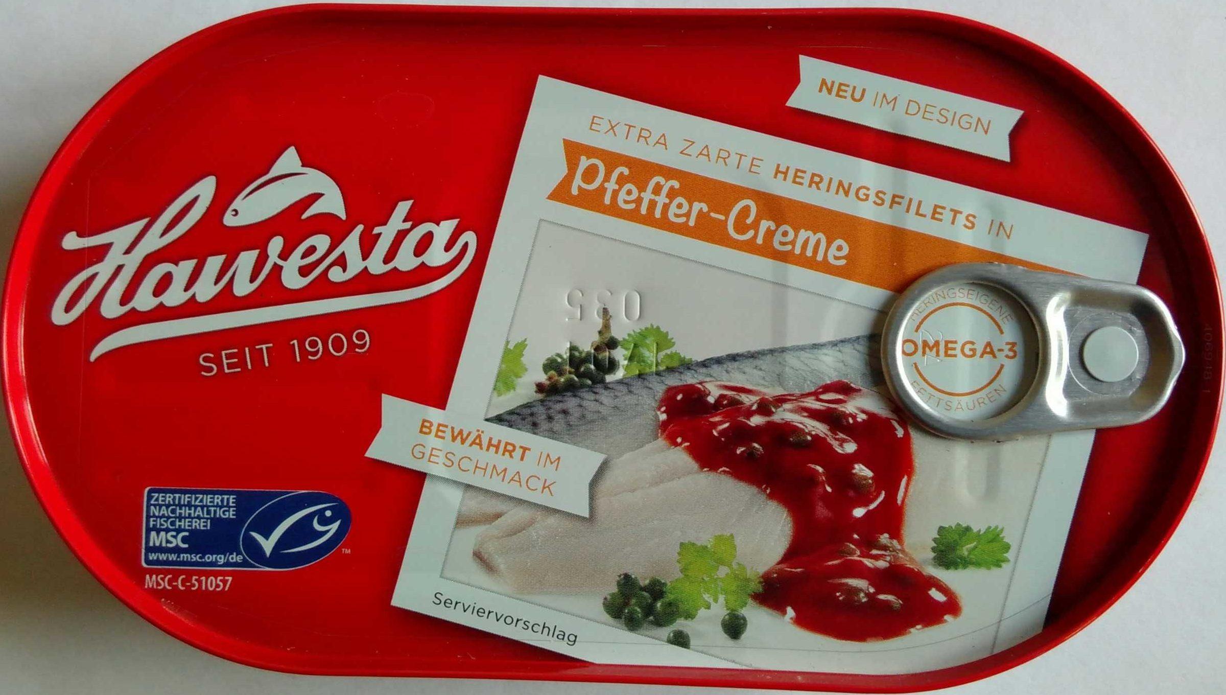 Heringsfilets in Pfeffer-Creme - Produit - de