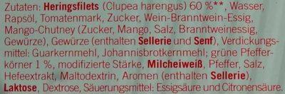 Heringsfilets in Pfeffer-Creme - Ingrédients - de