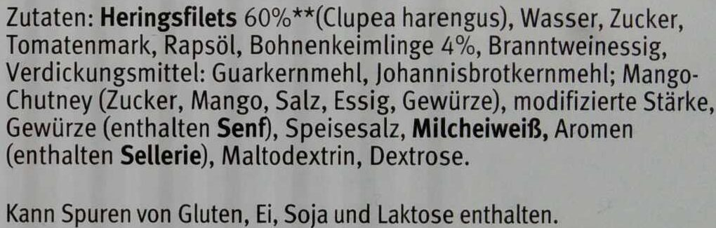 Herings Filets - Ingrédients - de