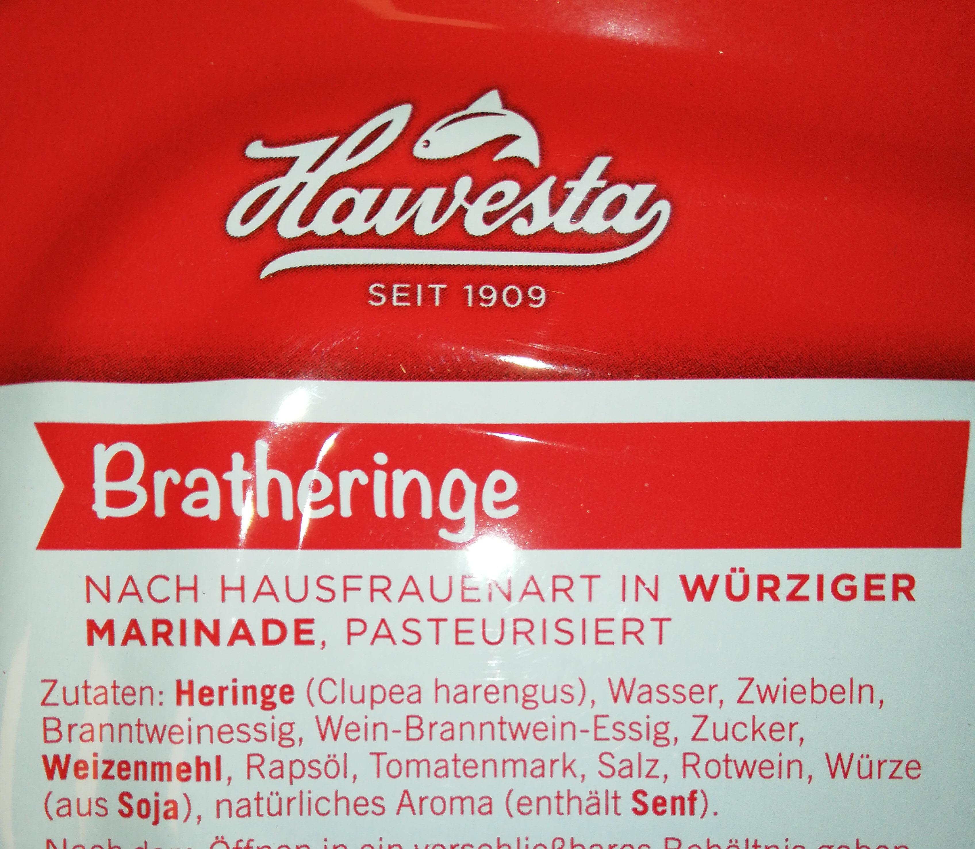 """Brat Heringe """"Hausfrauenart"""" - Inhaltsstoffe"""