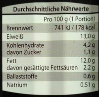 Liquria - Nutrition facts