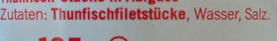 Filets de thon émincés en saumure - Ingrédients - de