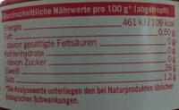 Filets de thon émincés en saumure - Informations nutritionnelles - de
