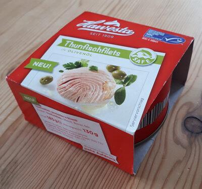 Thunfischfilets, geschnitten in Olivenöl - Produit