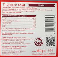 Thunfisch salat mexiko - Inhaltsstoffe