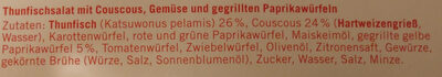 Thunfischsalat Couscous - Ingredients - de