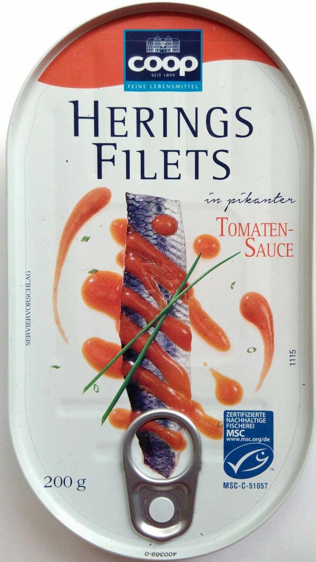 Heringsfilets in pikanter Tomatensauce - Produit