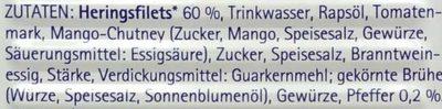 Heringsfilets in pikanter Pfeffer-Creme - Inhaltsstoffe