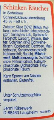 Schinken Räucher - Ingredients