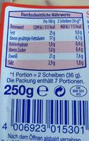Schinken Räucher - Nutrition facts