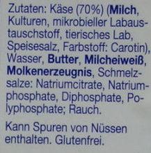 Räucher über Buchenholz geräuchert - Ingredients - de