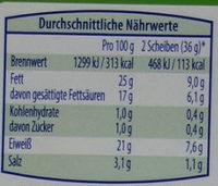 Räucher über Buchenholz geräuchert - Nutrition facts - de