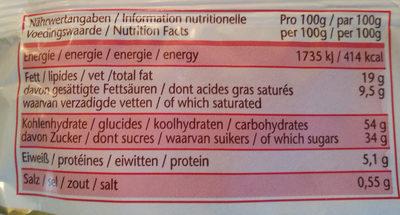 Kronen Marzipan stollen Mit 10% Marzipanfüllung - Voedingswaarden