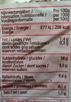schwarzbrot - Informations nutritionnelles - fr