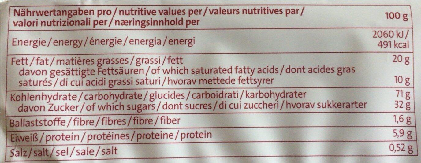 Coppenrath Classic Café Kränze - Nutrition facts - de