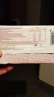 Coppenrath Zuckerfrei Vanille Cookies - Nutrition facts