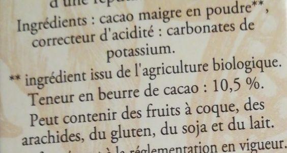 LE BIO Cacao non sucré - Ingredients