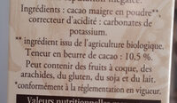 Cacao Le Bio - Ingredients - fr
