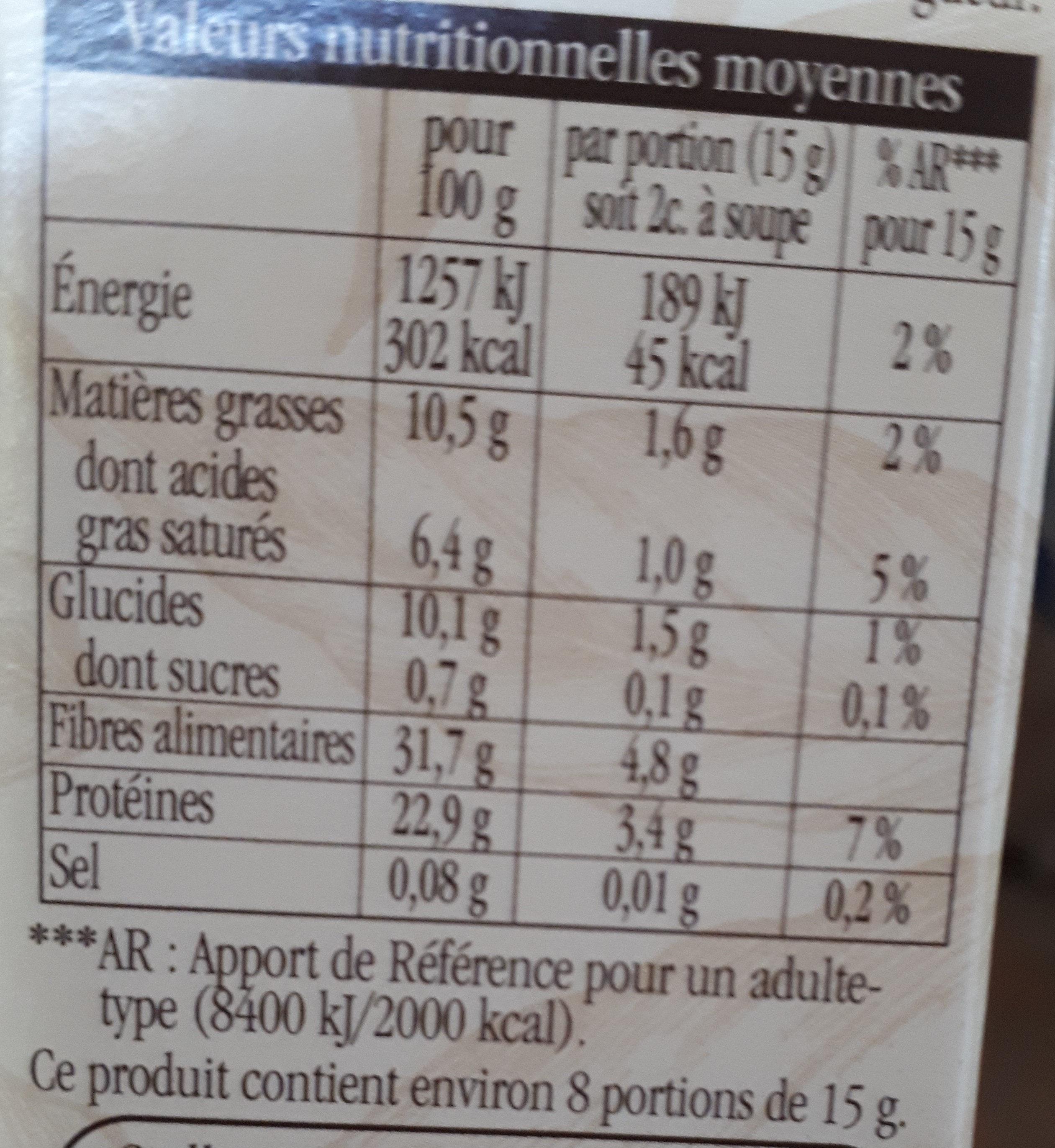 Cacao Le Bio - Nutrition facts - fr