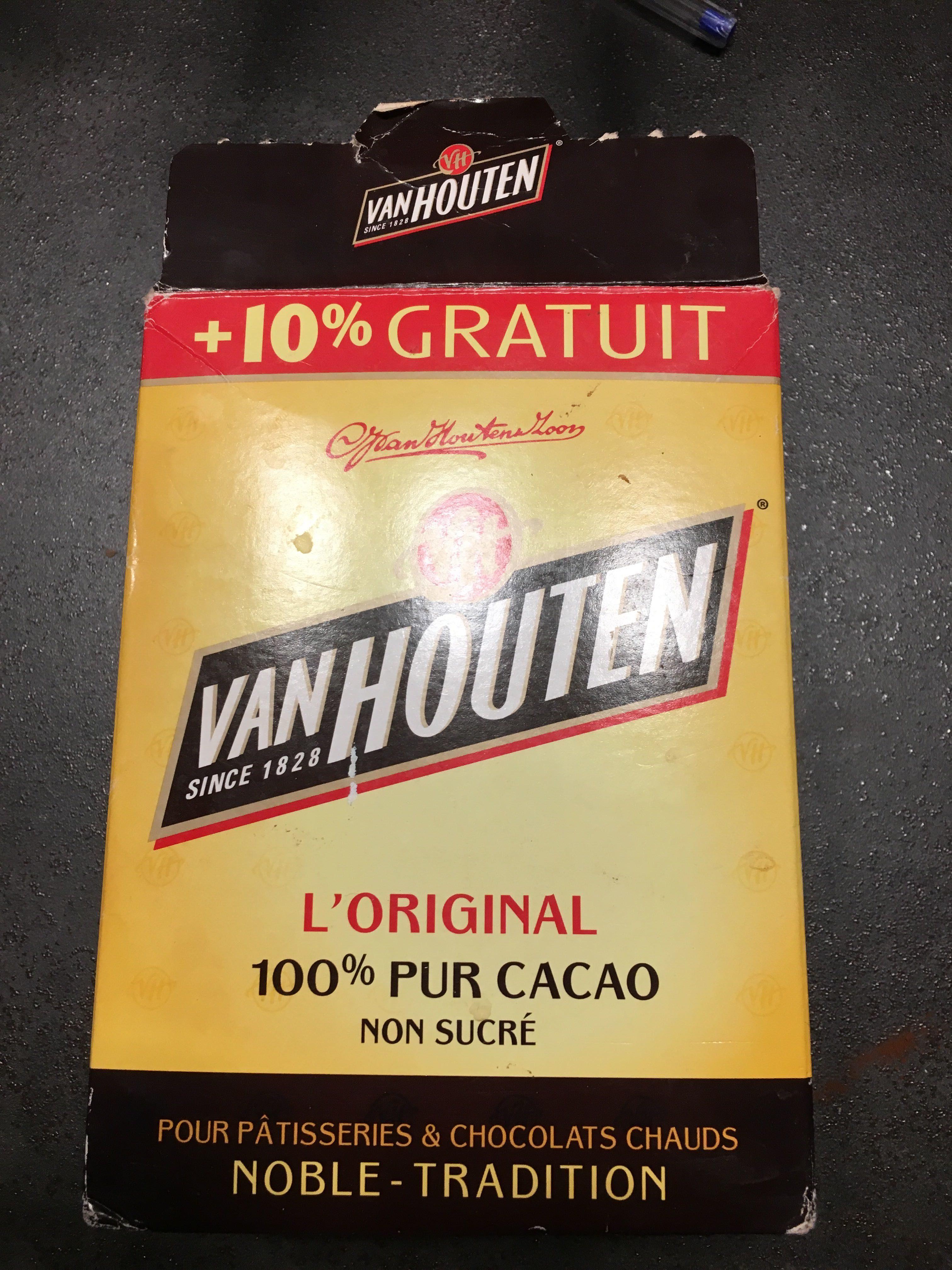 L'original Cacao non sucré (+10% gratuit) - Produit - fr
