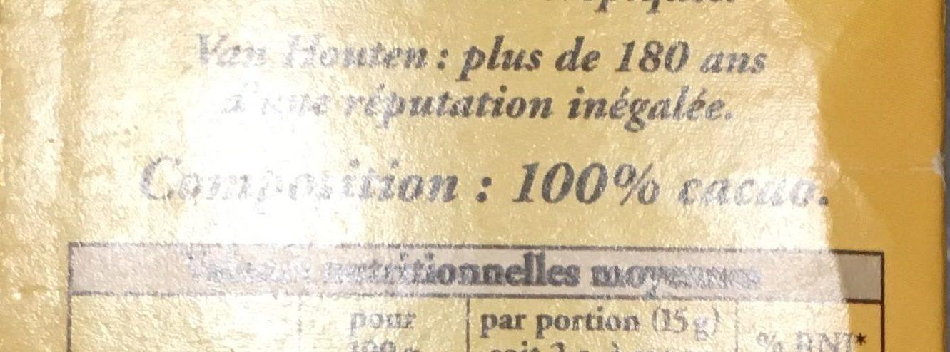 L'original Cacao non sucré (+10% gratuit) - Ingrédients - fr