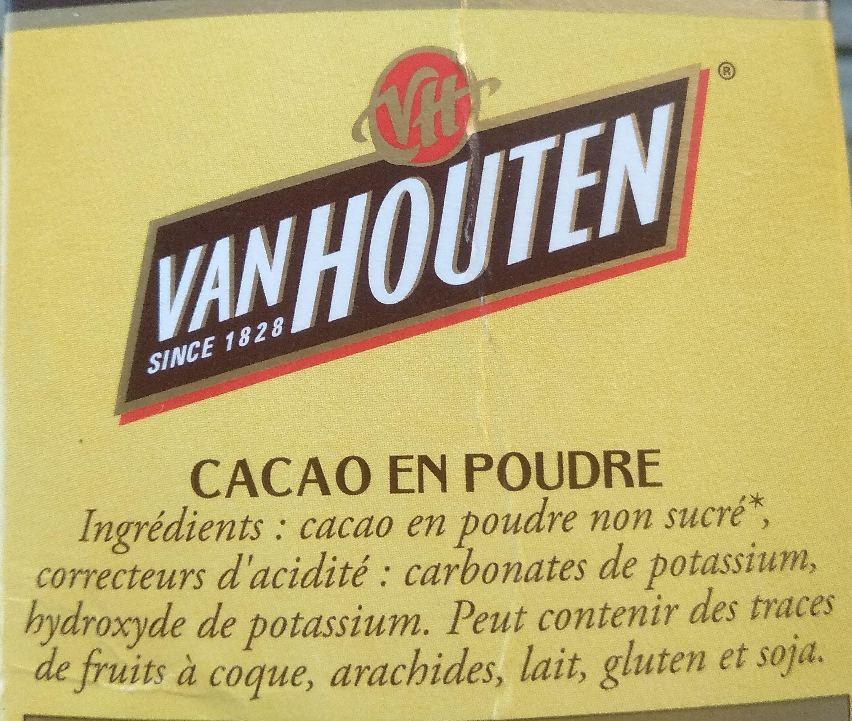 Cacao en poudre non sucré - Ingredienti - fr