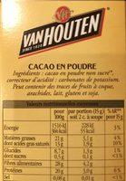 L'original Cacao en poudre - Ingrédients - fr