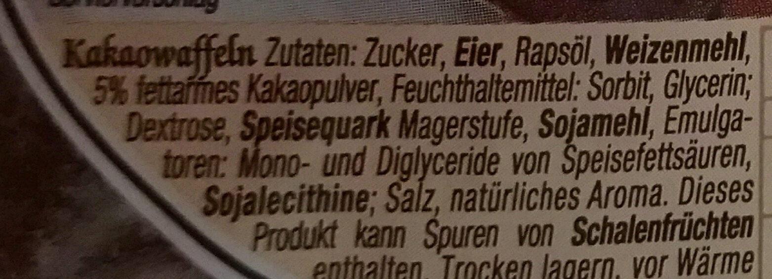 Kakao-Waffeln - Ingredients