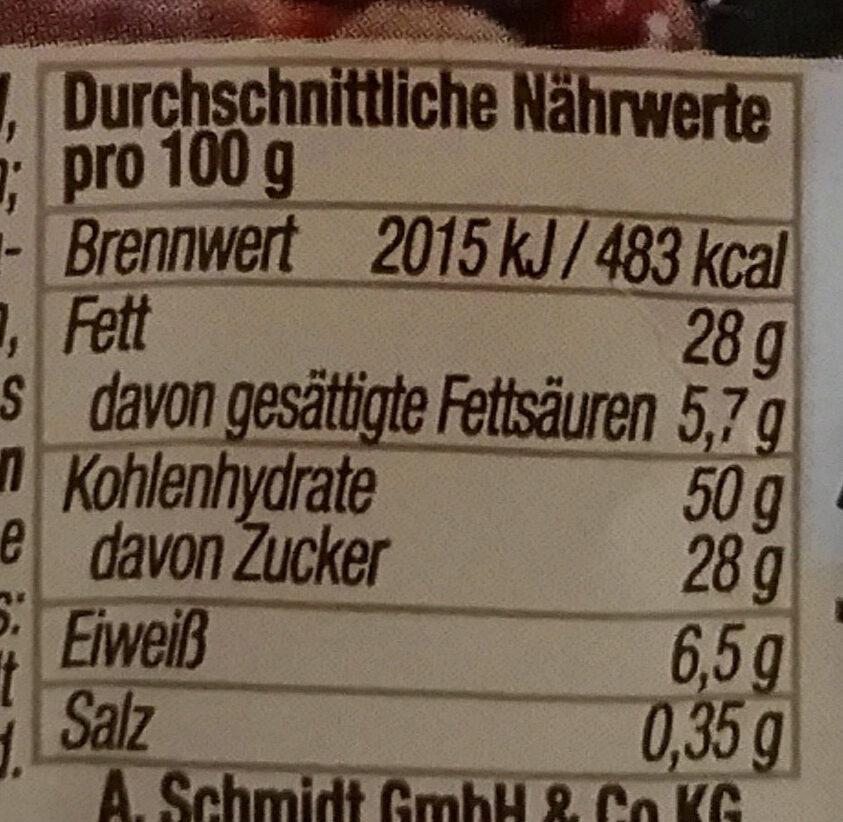 Kakao-Waffeln - Nutrition facts