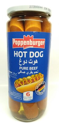 Poppenburger Hot Dog Pure Beef - نتاج - en