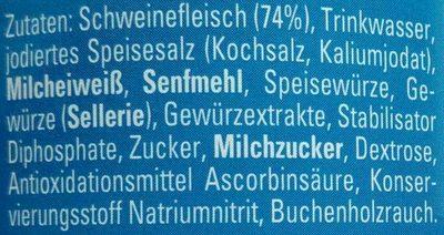Bockwürstchen mit Milcheiweiß - Ingrediënten