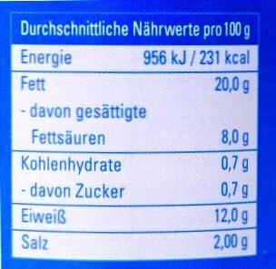 bockwurst - Nährwertangaben - de