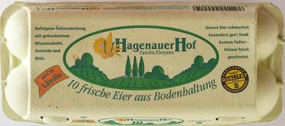 10 frische Eier aus Bodenhaltung - Product