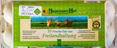 10 Frische Eier aus Freilandhaltung - Product