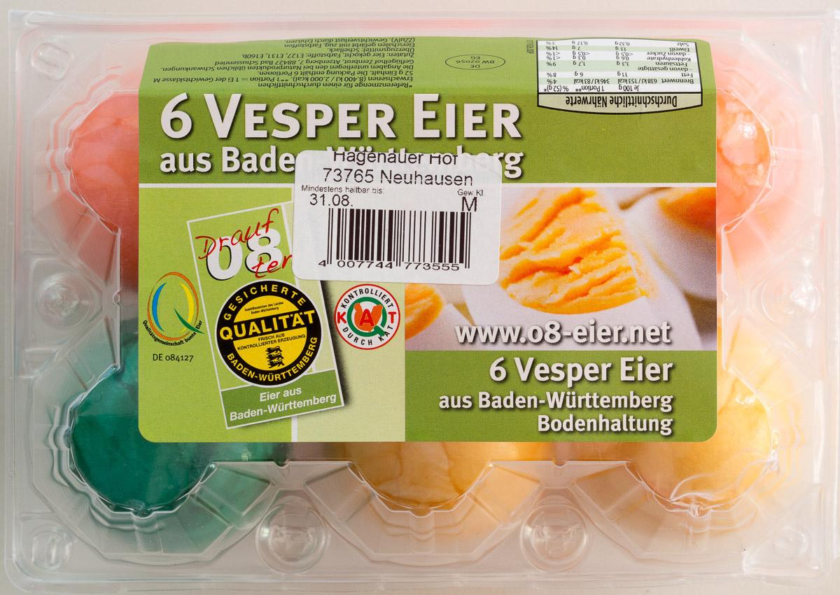 6 Vesper Eier - Produkt - de