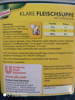 Fleischspeise knorr - Ingredients - de