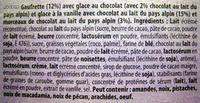 Cônes Chocolat & Vanille - Ingrédients