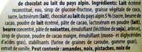 Glace chocolat-vanille Milka - Ingrédients - fr
