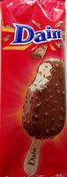 Lody karmelowe (3% pasty karmelowej) z kawałkami kruchego karmelu z mleczną czekoladą w polewie z mlecznej czekolady 32% i kawałkami karmelowo-migdałowymi. - Produkt - pl
