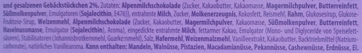 Milka Crunchy Chocolate - Ingredients